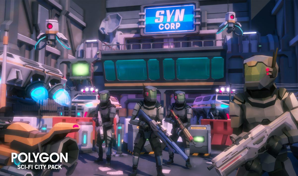 Unity低多边形科幻城市资源包POLYGON - Sci-Fi City Pack v1.18