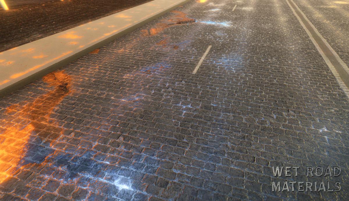 103d24d9 496a 41ed a01e 1f02f222a06e scaled - Wet Road Materials v2.5 - Unity道路材质插件