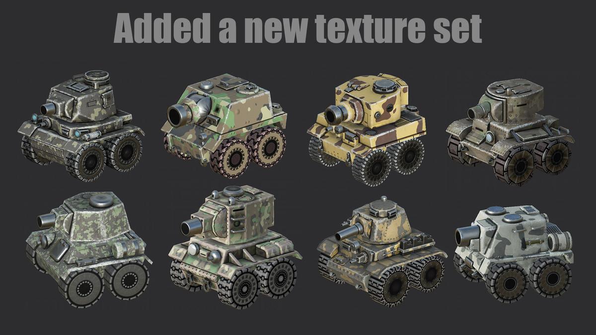 18aa6ad6 da22 4e5e bd13 e8fb260a4099 scaled - Unity Set Cartoon Tanks v1.4 - 8个合金子弹3D坦克模型和16个动画资源