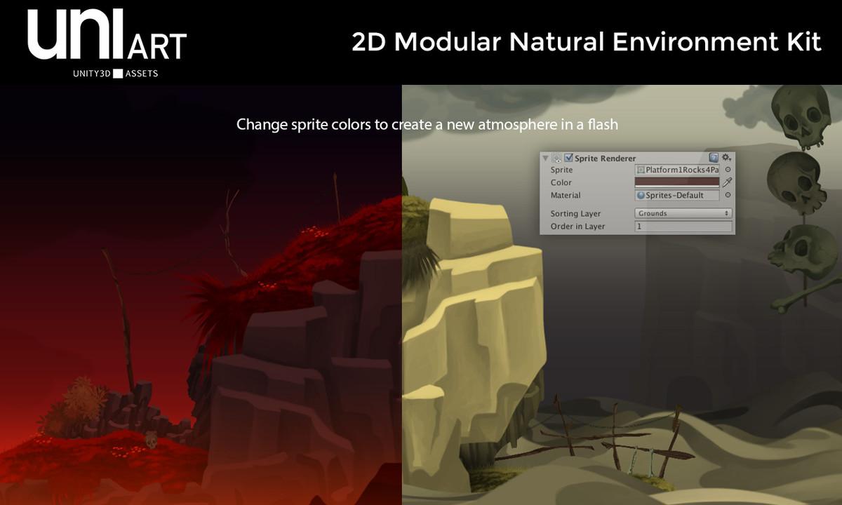 2d4d09f5 2269 4a52 b774 258087b8aeb1 scaled - Unity模块化自然环境 - UniArt 2D Modular Natural Environment Kit