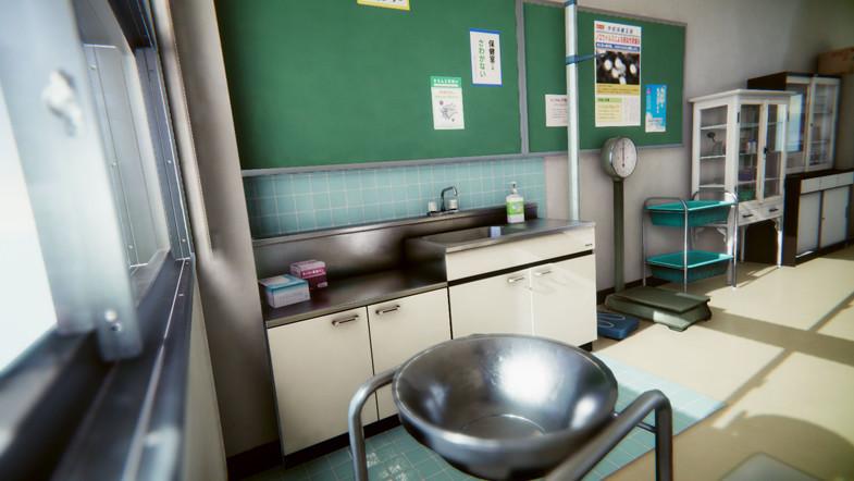 Japanese School Infirmary - Unity学校医务室模型