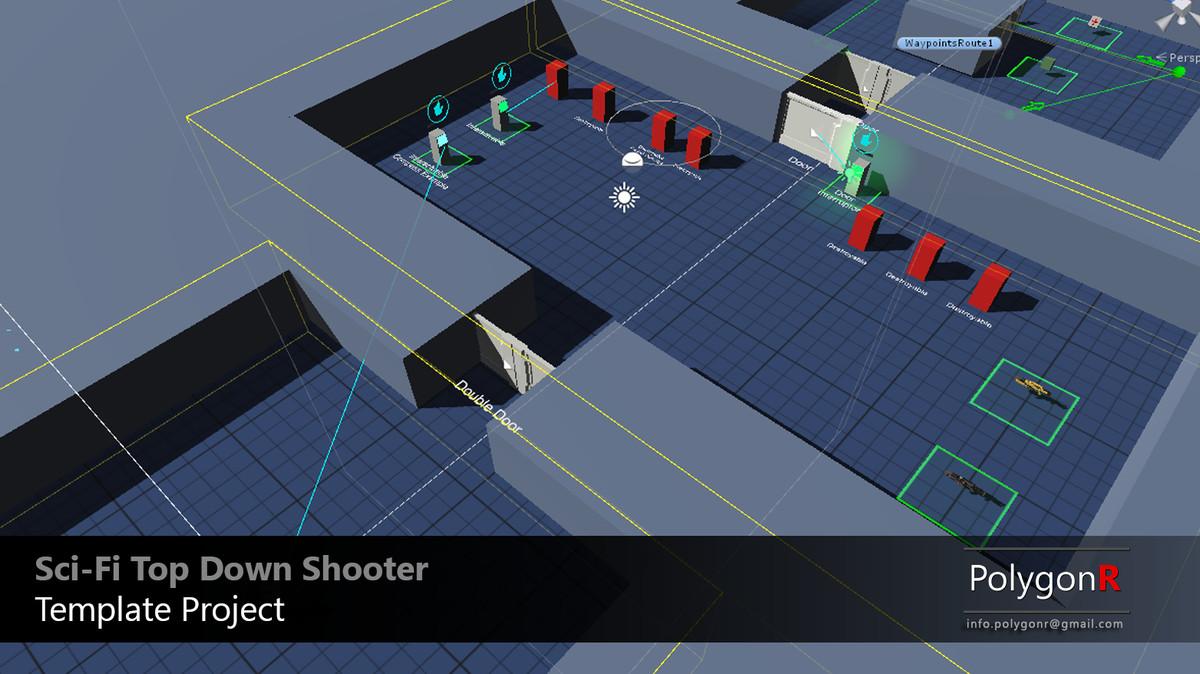 Sci Fi Top Down Game Template - Unity科幻射击游戏模板