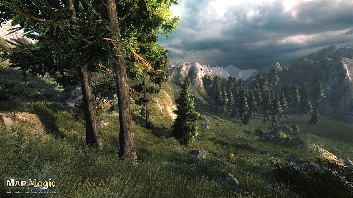 MapMagic World Generator - Unity三维游戏地形生成器