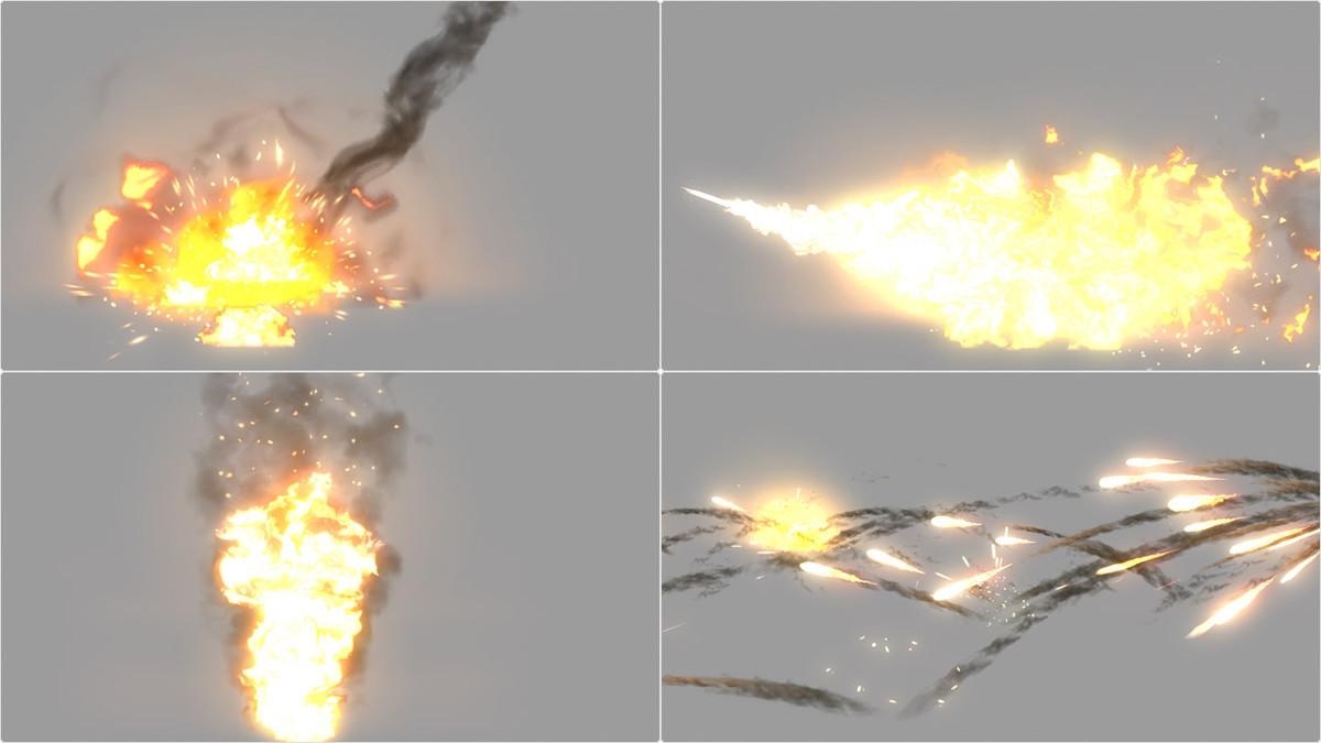35b153da 882f 4ac3 bdee a24d8c5ba9a0 scaled - Explosive Realistic VFX Texture Pack v1 - unity爆炸火焰纹理包
