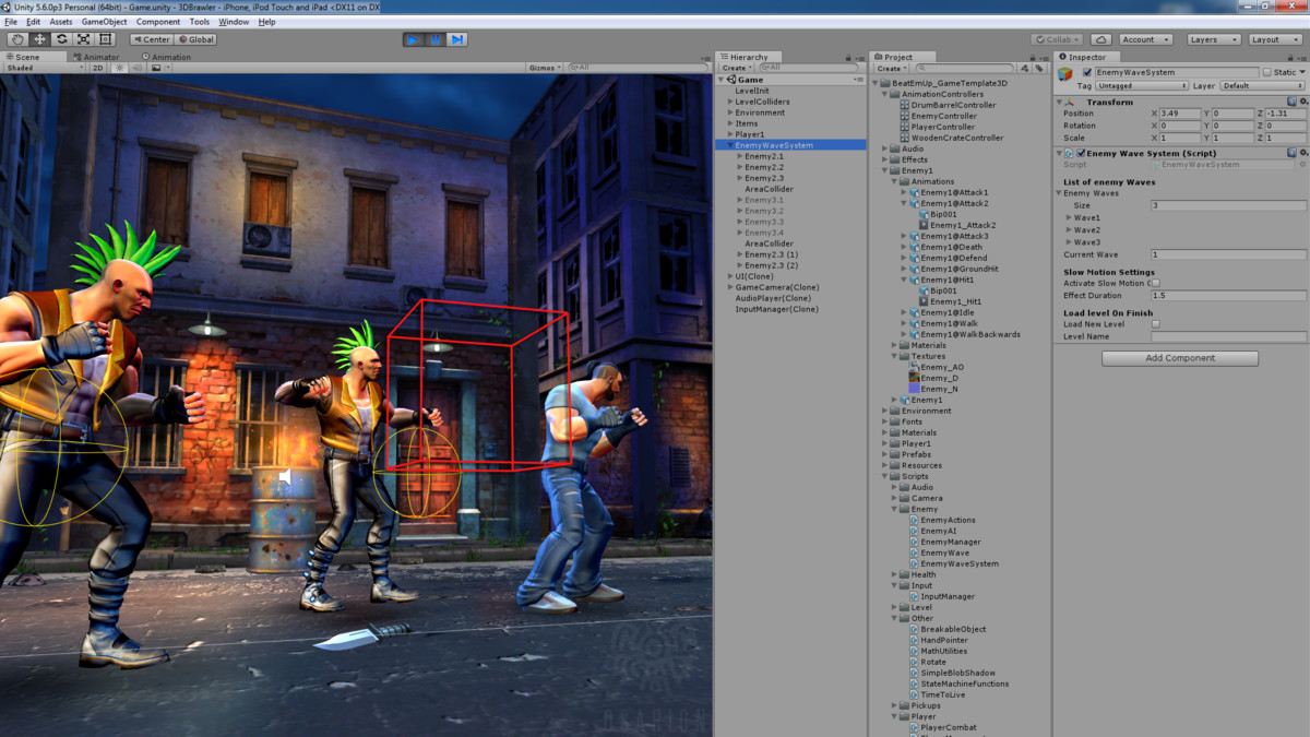 Beat Em Up Game Template 3D For unity