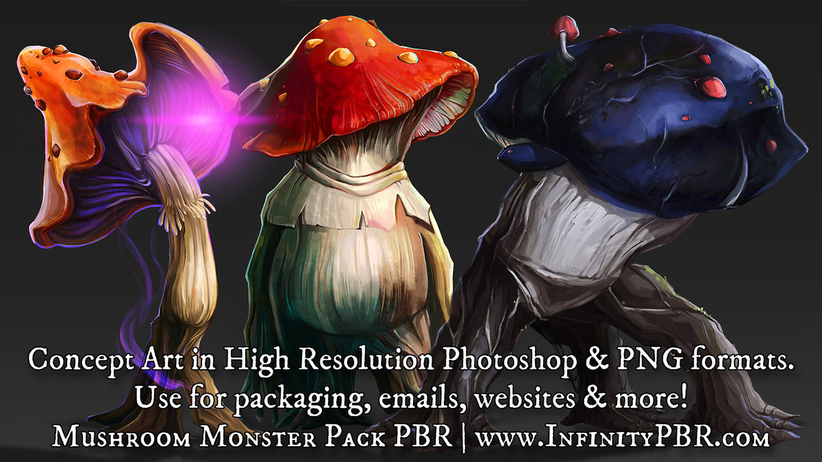 456ec9c6 6ffe 42a7 982c f68e35521952 scaled - Unity3D蘑菇怪兽PBR角色生物Mushroom Monsters 28HD