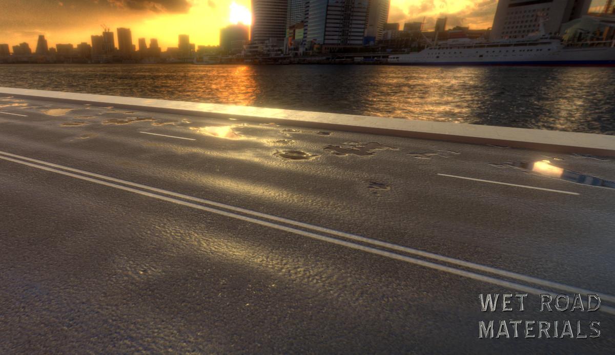 4907f290 a509 4b52 96d3 241e786fef8b scaled - Wet Road Materials v2.5 - Unity道路材质插件