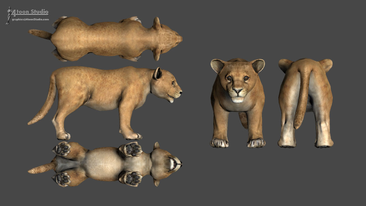 African Animal Pack For Unity动物模型包