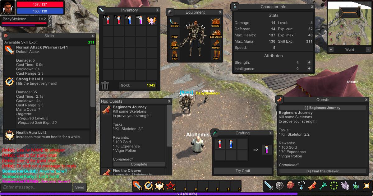 5ba780fc baa5 42f6 8492 1fbc760011ab scaled - Unity uMMORPG v1.177 - 网络多人角色扮演源码