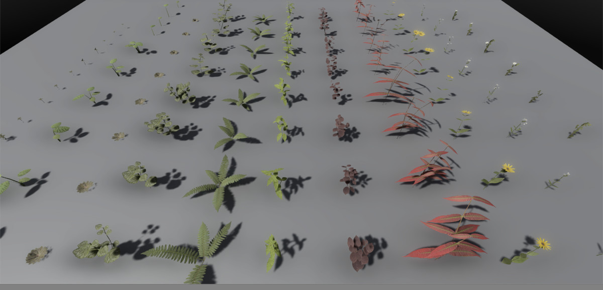 6e25257f e2c8 4646 9562 6957c3de1181 scaled - PBR Plant Pack Volume 2 v4.0 - Unity PBR植物3D包