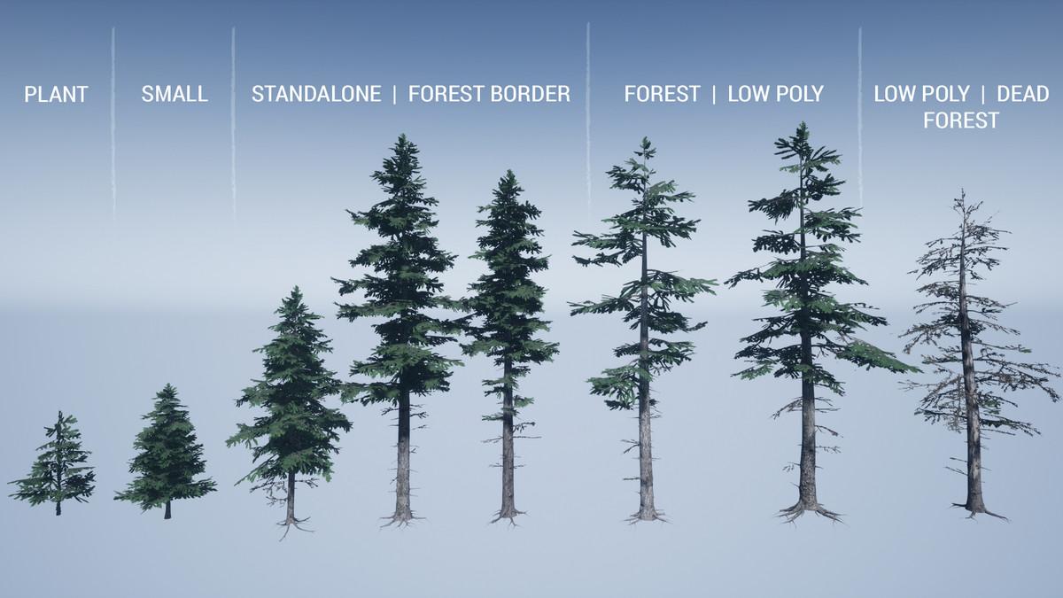 7042d0f3 12c2 43fc 9a07 1affa310bdea scaled - Mountain Trees v1.8 - unity植物树木模型