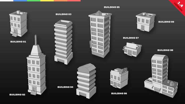 75f65187 e816 40f1 97ea 4a8e8f0f73c6 scaled - Game Concept Starter Pack v1.6 Unity低聚城市/太空游戏模型源码