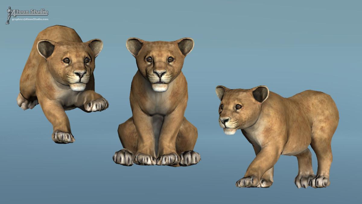 7af4a53f 9e37 4a3b 8d80 8ade5bd3d13f scaled - African Animal Pack 1 v2.1 - Unity鳄鱼大象狮子动物模型动画包