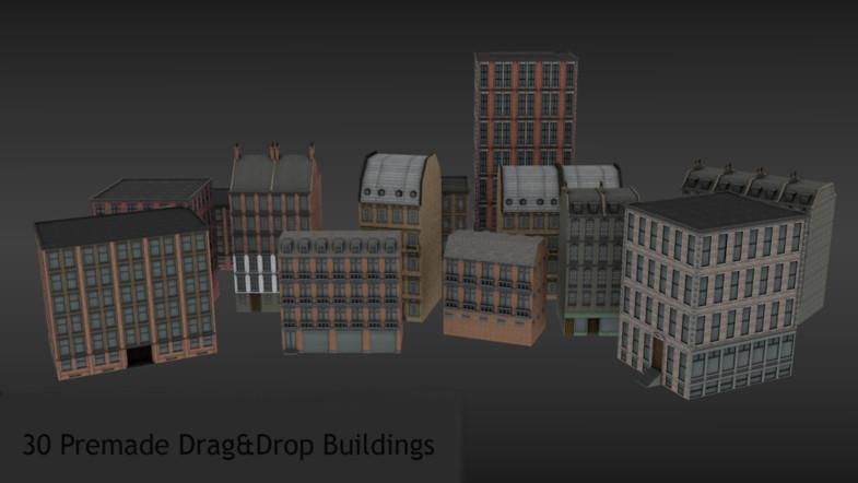 ab31aa5c 7b77 4581 b122 1748077087d6 scaled - Town Constructor Pack - Unity城镇3D模型包