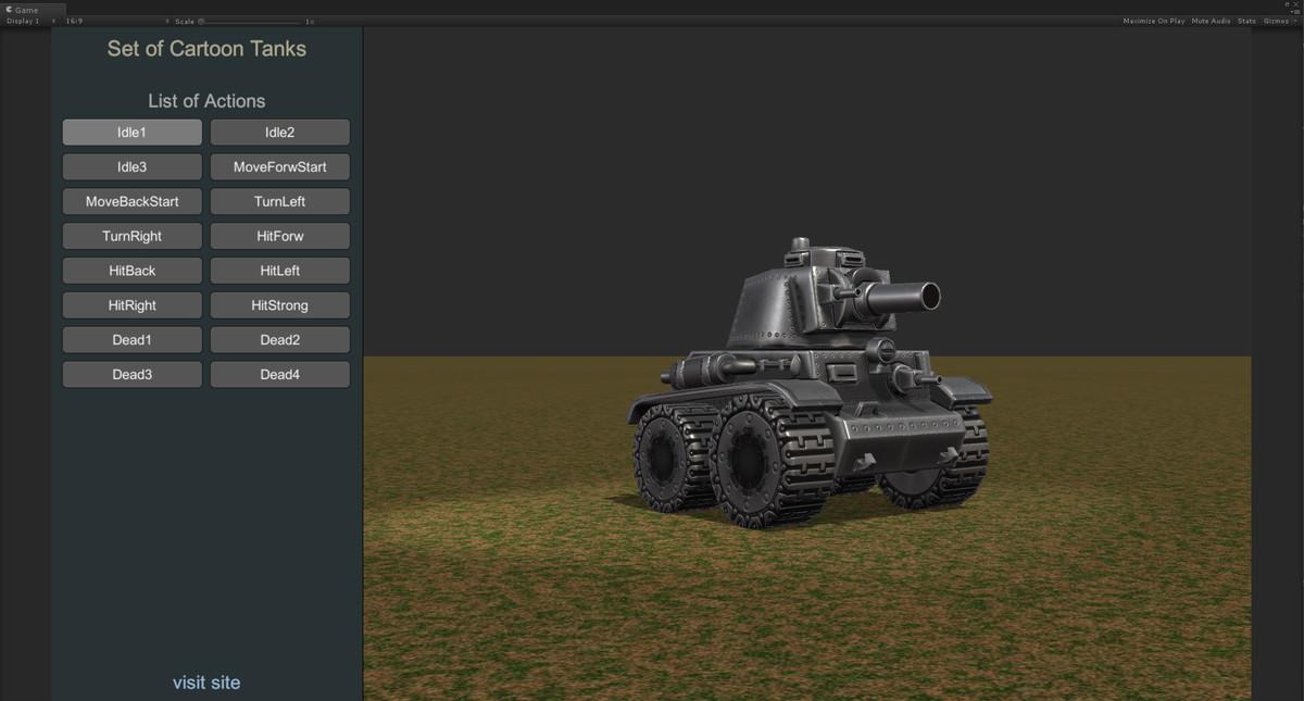 cbdbe960 b58d 4166 800a bc01e7872854 scaled - Unity Set Cartoon Tanks v1.4 - 8个合金子弹3D坦克模型和16个动画资源