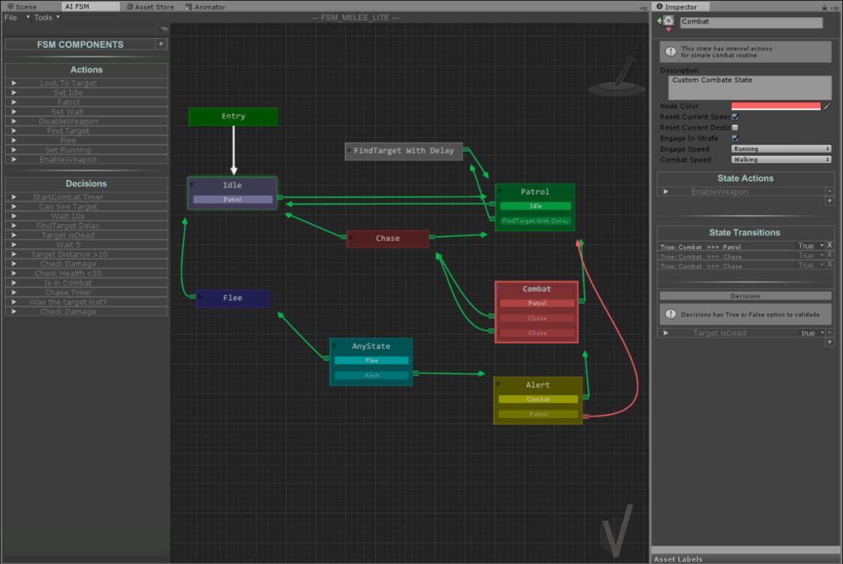 FSM AI Template - Unity游戏AI工具
