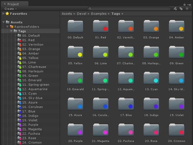 ed936d84 d237 49d6 bb2e c72634d1221b scaled - Rainbow Folders 2 v2.0 - Unity突出常用文件夹插件