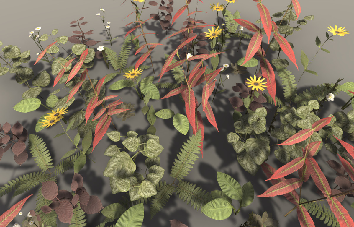 f755d77d 909d 4cd4 9476 1fdd83b6d6ad scaled - PBR Plant Pack Volume 2 v4.0 - Unity PBR植物3D包
